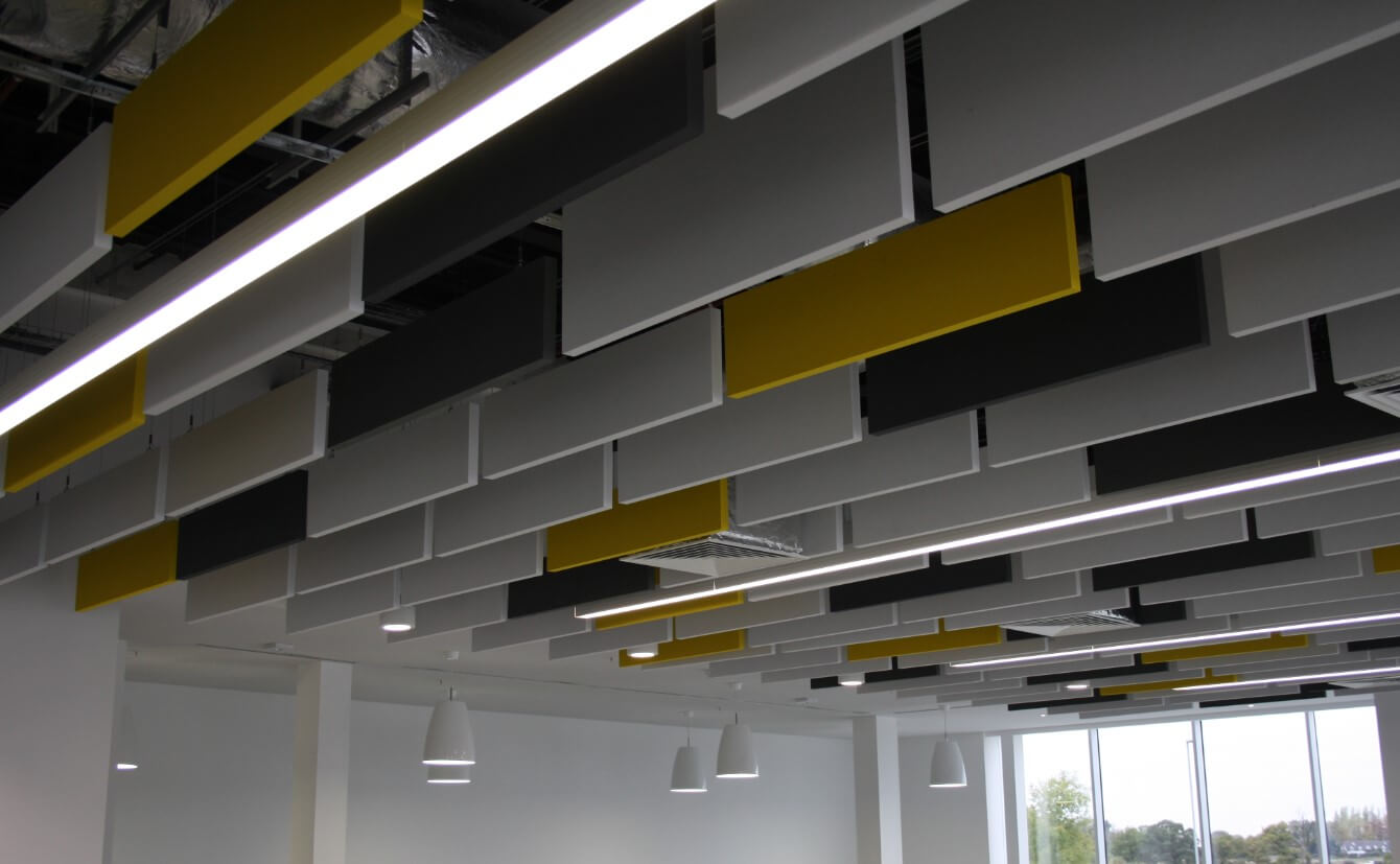 Acoustic panels, baffles & rafts by Sound Interiors